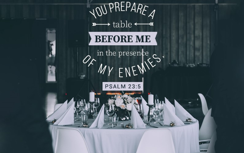 prepares a table